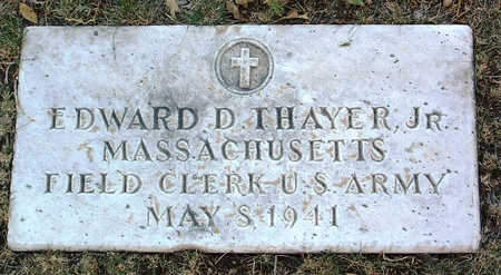 THAYER, EDWARD  D. JR. - Yavapai County, Arizona | EDWARD  D. JR. THAYER - Arizona Gravestone Photos