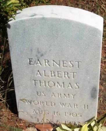 THOMAS, EARNEST ALBERT - Yavapai County, Arizona | EARNEST ALBERT THOMAS - Arizona Gravestone Photos