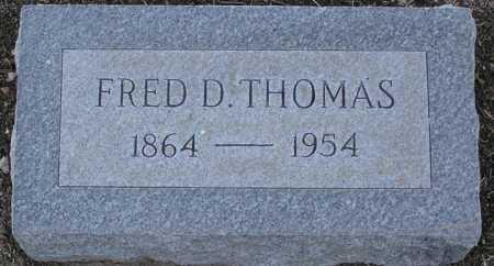 THOMAS, FRED D. - Yavapai County, Arizona | FRED D. THOMAS - Arizona Gravestone Photos
