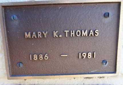 THOMAS, MARY K. - Yavapai County, Arizona   MARY K. THOMAS - Arizona Gravestone Photos