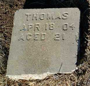 THOMAS, UNKNOWN - Yavapai County, Arizona | UNKNOWN THOMAS - Arizona Gravestone Photos
