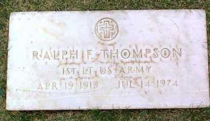 THOMPSON, RALPH F. - Yavapai County, Arizona | RALPH F. THOMPSON - Arizona Gravestone Photos