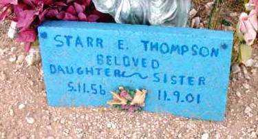 THOMPSON, STARR E. - Yavapai County, Arizona   STARR E. THOMPSON - Arizona Gravestone Photos