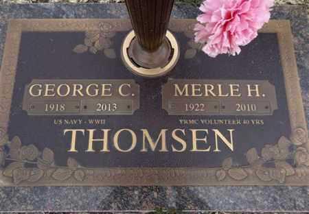 THOMSEN, GEORGE C. - Yavapai County, Arizona | GEORGE C. THOMSEN - Arizona Gravestone Photos