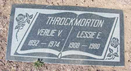 THROCKMORTON, LESSIE E. - Yavapai County, Arizona | LESSIE E. THROCKMORTON - Arizona Gravestone Photos