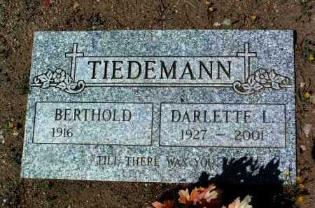 TIEDEMANN, BERTHOLD - Yavapai County, Arizona | BERTHOLD TIEDEMANN - Arizona Gravestone Photos