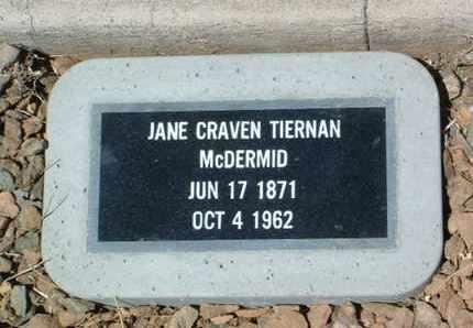 TIERNAN, JANE E. (JENNIE) - Yavapai County, Arizona | JANE E. (JENNIE) TIERNAN - Arizona Gravestone Photos
