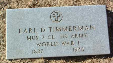 TIMMERMAN, EARL D. - Yavapai County, Arizona | EARL D. TIMMERMAN - Arizona Gravestone Photos