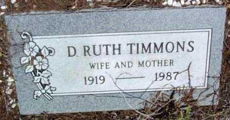 TIMMONS, DOLLY RUTH - Yavapai County, Arizona   DOLLY RUTH TIMMONS - Arizona Gravestone Photos