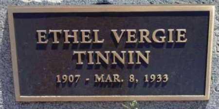 WOODS TINNIN, ETHEL V. - Yavapai County, Arizona   ETHEL V. WOODS TINNIN - Arizona Gravestone Photos