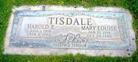 TISDALE, HAROLD E. - Yavapai County, Arizona | HAROLD E. TISDALE - Arizona Gravestone Photos