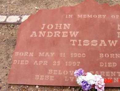 TISSAW, JOHN ANDREW (ANDY) - Yavapai County, Arizona | JOHN ANDREW (ANDY) TISSAW - Arizona Gravestone Photos