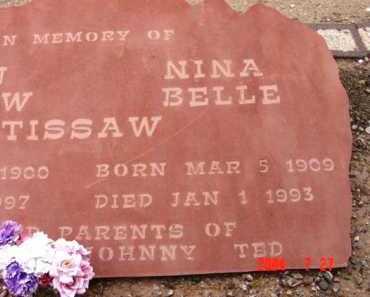 TISSAW, NINA BELLE - Yavapai County, Arizona | NINA BELLE TISSAW - Arizona Gravestone Photos