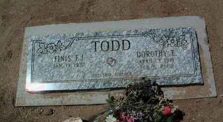 TODD, FINIS J.  (F.J.) - Yavapai County, Arizona | FINIS J.  (F.J.) TODD - Arizona Gravestone Photos