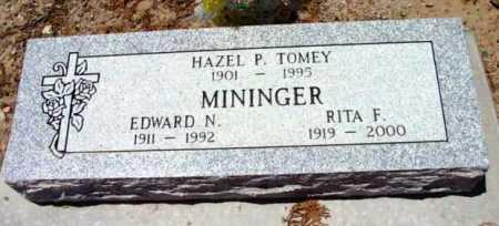 MININGER, RITA F. - Yavapai County, Arizona   RITA F. MININGER - Arizona Gravestone Photos