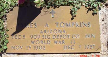 TOMPKINS, JAMES ALVIN - Yavapai County, Arizona   JAMES ALVIN TOMPKINS - Arizona Gravestone Photos