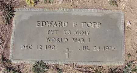 TOPP, EDWARD F. - Yavapai County, Arizona | EDWARD F. TOPP - Arizona Gravestone Photos