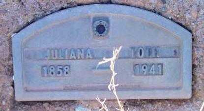 TOTH, JULIANA - Yavapai County, Arizona   JULIANA TOTH - Arizona Gravestone Photos
