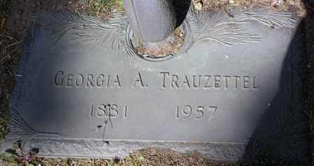 TRAUZETTEL, GEORGIA ANNA - Yavapai County, Arizona | GEORGIA ANNA TRAUZETTEL - Arizona Gravestone Photos