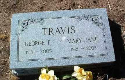 TRAVIS, GEORGE ELBERT - Yavapai County, Arizona | GEORGE ELBERT TRAVIS - Arizona Gravestone Photos