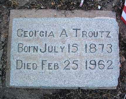 TROUTZ, GEORGIA ANN - Yavapai County, Arizona   GEORGIA ANN TROUTZ - Arizona Gravestone Photos