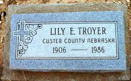 TROYER, LILY E. - Yavapai County, Arizona | LILY E. TROYER - Arizona Gravestone Photos