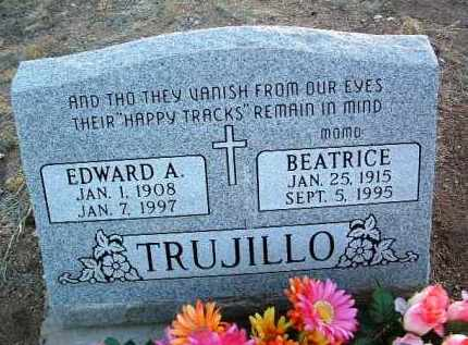 TURRENTINE TRUJILLO, BEATRICE - Yavapai County, Arizona | BEATRICE TURRENTINE TRUJILLO - Arizona Gravestone Photos