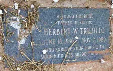 TRUJILLO, HERBERT W. - Yavapai County, Arizona | HERBERT W. TRUJILLO - Arizona Gravestone Photos