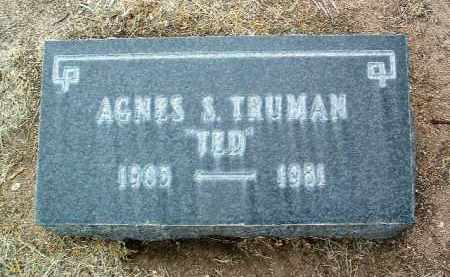 TRUMAN, AGNES S. (TED) - Yavapai County, Arizona | AGNES S. (TED) TRUMAN - Arizona Gravestone Photos