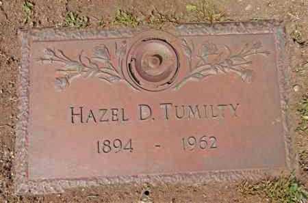 SHEELEY TUMILTY, HAZEL D. - Yavapai County, Arizona | HAZEL D. SHEELEY TUMILTY - Arizona Gravestone Photos