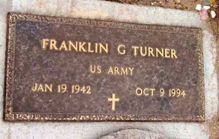 TURNER, FRANKLIN G. - Yavapai County, Arizona | FRANKLIN G. TURNER - Arizona Gravestone Photos