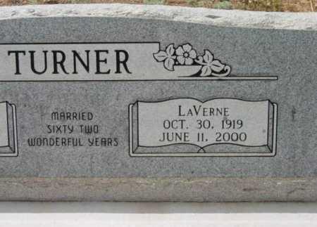 TURNER, LAVERNE - Yavapai County, Arizona   LAVERNE TURNER - Arizona Gravestone Photos