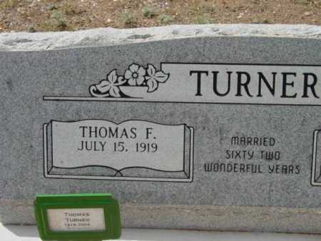 TURNER, THOMAS F. - Yavapai County, Arizona | THOMAS F. TURNER - Arizona Gravestone Photos