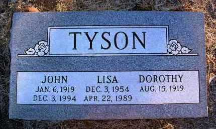 TYSON, JOHN R. - Yavapai County, Arizona | JOHN R. TYSON - Arizona Gravestone Photos