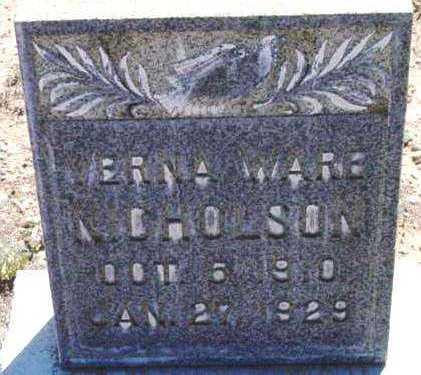 NICHOLSON, VERNA WEILER - Yavapai County, Arizona | VERNA WEILER NICHOLSON - Arizona Gravestone Photos