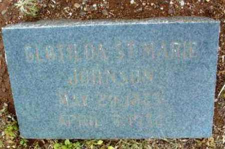 JOHNSON, CLOTILDA ST. MARIE - Yavapai County, Arizona | CLOTILDA ST. MARIE JOHNSON - Arizona Gravestone Photos