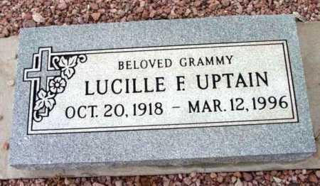 UPTAIN, LUCILLE F. - Yavapai County, Arizona | LUCILLE F. UPTAIN - Arizona Gravestone Photos