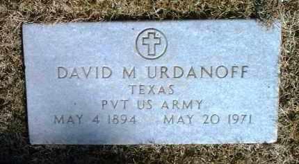 URDANOFF, DAVID M. - Yavapai County, Arizona   DAVID M. URDANOFF - Arizona Gravestone Photos