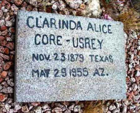 CORE USREY, CLARINDA ALICE - Yavapai County, Arizona | CLARINDA ALICE CORE USREY - Arizona Gravestone Photos