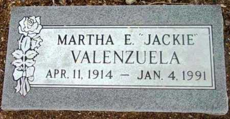 VALENZUELA, MARTHA E.  (JACKIE) - Yavapai County, Arizona | MARTHA E.  (JACKIE) VALENZUELA - Arizona Gravestone Photos