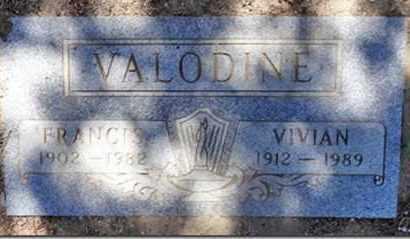 VALODINE, FRANCIS - Yavapai County, Arizona | FRANCIS VALODINE - Arizona Gravestone Photos