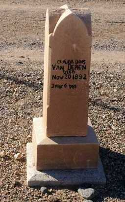 VAN DEREN, CLAUDIA DAVIS - Yavapai County, Arizona | CLAUDIA DAVIS VAN DEREN - Arizona Gravestone Photos