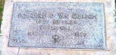 VAN GERREN, FOLKERT D. - Yavapai County, Arizona | FOLKERT D. VAN GERREN - Arizona Gravestone Photos