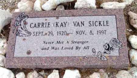 VAN SICKLE, CARRIE  (KAY) - Yavapai County, Arizona | CARRIE  (KAY) VAN SICKLE - Arizona Gravestone Photos