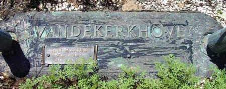 VANDEKERKHOVE, ANN MARTHA - Yavapai County, Arizona | ANN MARTHA VANDEKERKHOVE - Arizona Gravestone Photos