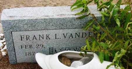 VANDERHOEF, FRANK L. - Yavapai County, Arizona | FRANK L. VANDERHOEF - Arizona Gravestone Photos