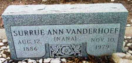 VANDERHOEF, SURRUE ANN - Yavapai County, Arizona | SURRUE ANN VANDERHOEF - Arizona Gravestone Photos