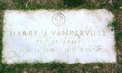 VANDERVILLE, HARRY J. - Yavapai County, Arizona | HARRY J. VANDERVILLE - Arizona Gravestone Photos