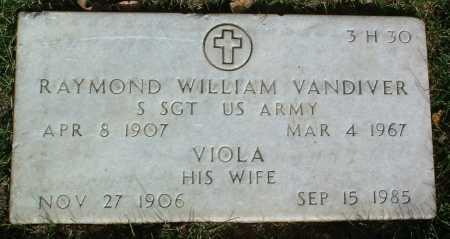 VANDIVER, RAYMOND WILLIAM - Yavapai County, Arizona | RAYMOND WILLIAM VANDIVER - Arizona Gravestone Photos