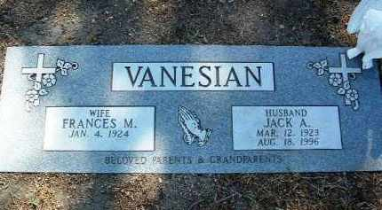 WALKER VANESIAN, F. M. - Yavapai County, Arizona | F. M. WALKER VANESIAN - Arizona Gravestone Photos